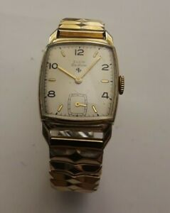 vintage Elgin Deluxe 558 watch 17 jewelry working well 10k golf filled