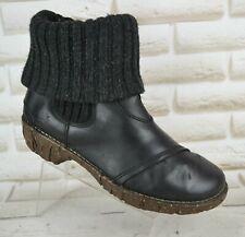 EL NATURALISTA Iggdrasil Womens Black Leather Boots Casual Shoe Size 6 UK 39 EU