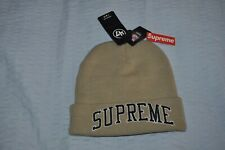 Supreme x Raiders '47 Beanie Hat Tan One Size Black Black Beach Brand New