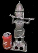 Old Tribal Large Benin Bronze Palace trumpet Blower   ---- Edo,Nigeria
