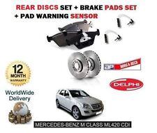 FOR MERCEDES ML420 CDi 2006-> REAR BRAKE DISCS SET + DISC PADS KIT+ WIRE SENSOR