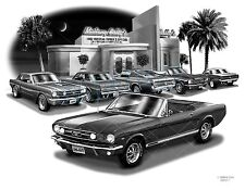 "MUSTANG 66 MUSCLE CAR ART AUTO PRINT  # 2111 ""FREE USA SHIPPING"""
