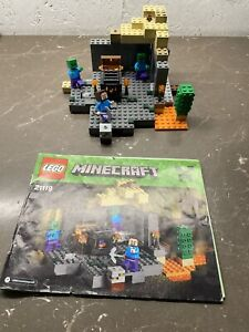 Lego Minecraft The Dungeon (21119) Complete Set with Minifigures & Instructions