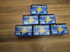 6 x Polaroid High Definition ISO 200 Films  36 & 24 x 36mm New Unopened