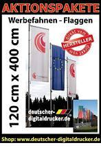 Werbefahne drucken - Firmenfahnen bedrucken - Beachflags - Fahnen 120 x 400 cm