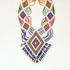 BellyDance ATS Costume Beaded NECKLACE Kuchi Tribe 806g10