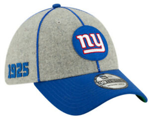 NEW YORK GIANTS NEW ERA FITTED HAT 39THIRTY 100 YEARS NFL FOOTBALL CAP