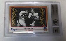 Jake LaMotta Signed 1991 Kayo Boxing Card BAS Beckett COA Gem Mint 10 Autograph
