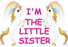 I'M THE LITTLE SISTER A5 IRON ON TRANSFER A5 UNICORN  DESIGN T SHIRT TRANSFER A5