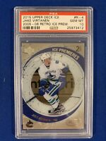 JAKE VIRTANEN RC PSA 10 2015-16 UPPER DECK ICE ROOKIE CARD #446/799