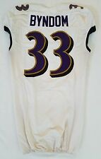 #33 Byndom Authentic Ravens Nike Practice and Player Worn Jersey