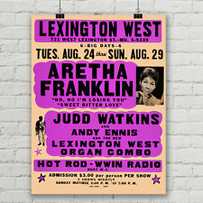 Aretha Franklin Concert Poster Queen of Soul Lexington West Canvas Art Print
