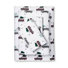 Twin Flannel Sheet Set Car Family Station Wagon  Sleep in comfort and warm NEW