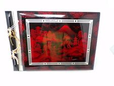 Original Old Japanese Lacquered Photo Album… With Shell And Mother Of Pearl... Antiques
