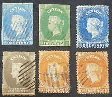 Early used lot of Ceylon British Commonwealth - QV VICTORIA