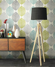 NEWROOM Fondo de pantalla flores Gris,Verde,Turquesa Gráfico,Casa campo,Moderno