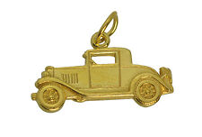 Classic Ford Model A Car Replica Charm 24kt Gold Plated roadster hot rod Jewelry