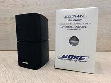 BOXED BOSE BLACK DOUBLE CUBE SPEAKER  ACOUSTIMASS 5 10 15 LIFESTYLE 18 28 ETC