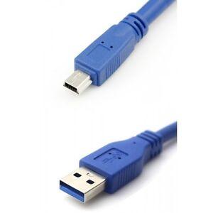 Super High Speed Câble USB 3.0 AM vers Mini USB 3.0 AM / Mini 10P 1,5 mètre