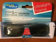 50 REC15 SOLAR SHIELD POLARIZED+ SCRATCH RESISTANT, FITS OVER GLASSES