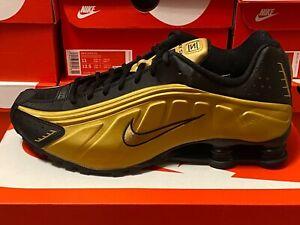 """Nike Shox R4 """"METALLIC GOLD"""" 104265-702 Men's Running Sneakers Shoes DOUBLE BOXD"""