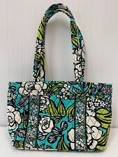 NWOT Vera Bradley Handbag Island Blooms Purse Satchel Blue Green White Flowers