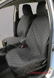SKODA Octavia vRS - FRONT PAIR of Luxury QUILTED Protectors Car Seat Covers