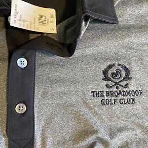Footjoy FJ Mens NWT XXL Gray/Navy The Broadmoor Golf Club S/S Golf Polo $81