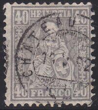 Schweiz 1881 - Mi. 42  gestempelt mit Fotobefund