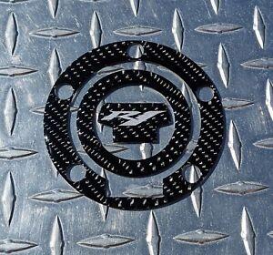 REAL Carbon Fibre Yamaha R1 Fuel / Gas Cap Cover Tank Pad R1S R1M Silver Logo