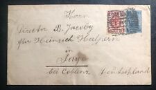 1903 Warsaw Poland Russia Empire Postal stationery Cover To Sayn Germany