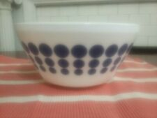 Vintage Charm Inspired By Pyrex Blue  Polka Dot 10 C/2.3 L Mixing Bowl Spot On