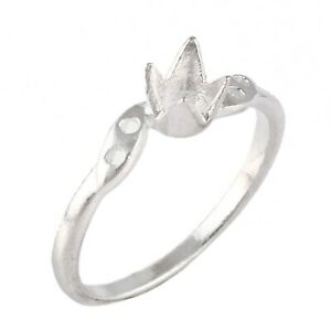 Semi Mount Ring Stone Setting Size 4X4 MM Round Shape 925 Sterling Silver Ring