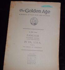 Golden Age Magazine Dec 18 1935 IBSA International Bible Watchtower Jehovah