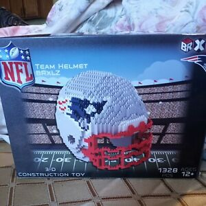 New England Patriots BRXLZ Team Helmet 3D Toy PUZZLE 1328 Pcs NFL In Box
