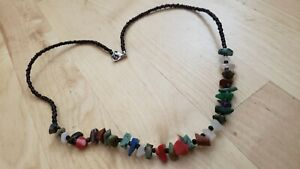 """Collectible HAND CRAFTED  MULTI-STONE NECKLACE 18"""" LONG."""