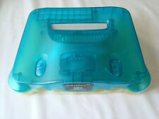 Official Nintendo 64 Clear Blue Console Body Shell Part N64 WORN