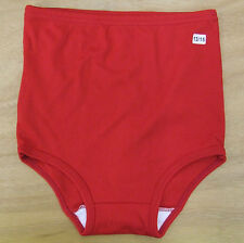 School Gym Knickers size 8-10 Age 13-15yrs Netball Briefs Stretchy Nylon Red