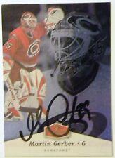 Ottawa Senators Martin Gerber Signed 07/08 Flair Card