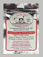 3 PACKS of 2 CAPE COD POLISH CLOTHS silver/brass/stainless/copper/nickel & more