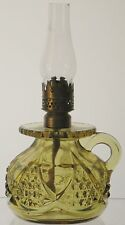 VINTAGE MINIATURE BUNDLING OIL KEROSENE NIGHT LAMP BASE w/CHIMNEY IMPERIAL