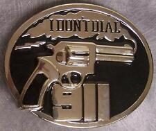 Pewter Belt Buckle novelty I Don't Dial 911 NEW