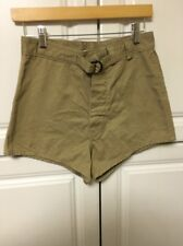 USN NAVY SEALS KHAKI TRUNKS SWIMMERS SHORT SIZE 28 NEW OLD STOCK