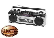 Radio Registratore a CASSETTA TREVI RR 501 BT Silver Bluetooth Stereo USB SD MP3