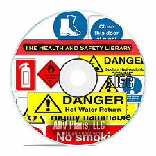 8,500+ Printable Danger, Hazard, Safety OSHA Warning Signs & Images on CD E88
