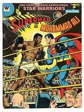 "Superman vs Muhammad Ali 1978 Vintage Silk Fabric Poster 12""x16"" Comic Book"