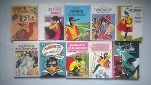 Lot 10 Livres Bibliothèque Rose * Fantômette * G CHAULET * HACHETTE L89