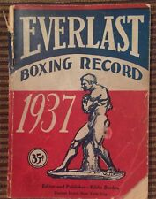 Everlast Boxing Record 1937 Illustrated ~ Annual Guide to Professional Boxing
