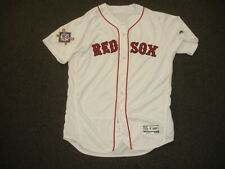 2018 Carlos Febles Boston Red Sox Game Used Signed Home Jersey w/ MLB hologram