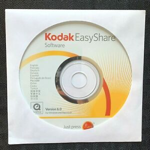 Kodak EasyShare Software 6.0 Disc Only Windows and Macintosh New in Sleeve